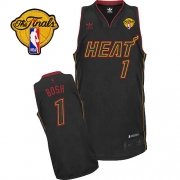 Adidas Chris Bosh Miami Heat Swingman Carbon Fiber Fashion With Finals Patch Jersey - Black