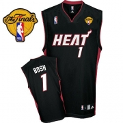 Adidas Chris Bosh Miami Heat Road Authentic With Finals Patch Jersey - Black
