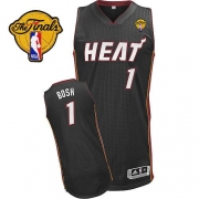 Adidas Chris Bosh Miami Heat Authentic With Finals Patch Revolution 30 Jersey - Black