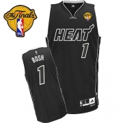 Adidas Chris Bosh Miami Heat Authentic With Finals Patch Jersey - Black Shadow