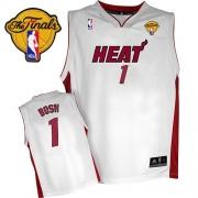Adidas Chris Bosh Miami Heat Home Swingman With Finals Patch Jersey - White