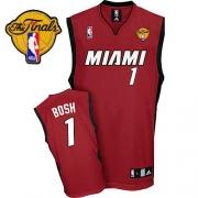 Adidas Chris Bosh Miami Heat Alternate Swingman With Finals Patch Jersey - Red
