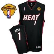 Adidas Chris Bosh Miami Heat Road Swingman With Finals Patch Jersey - Black