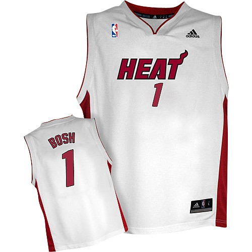 Chris Bosh Home Swingman Jersey - White Adidas Heat Jersey ec15573c3
