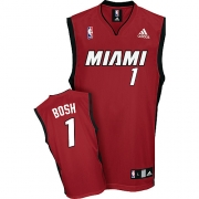 Adidas Chris Bosh Miami Heat Alternate Authentic Jersey - Red