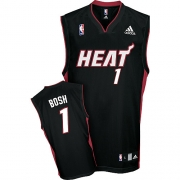Adidas Chris Bosh Miami Heat Road Authentic Jersey - Black