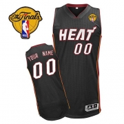 Adidas Customized Miami Heat Authentic Revolution 30 Authentic Road With Finals Patch Jersey - Black