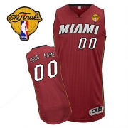 Adidas Customized Miami Heat Authentic Revolution 30 Alternate With Finals Patch Jersey - Red