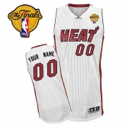 Adidas Customized Miami Heat Authentic Revolution 30 Home With Finals Patch Jersey - White